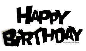 happy birthday black and white