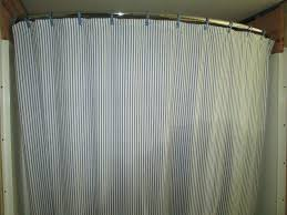 Blue Vertical Striped Curtains by Vertical Striped Shower Curtains With Curved Shower Curtain Grey