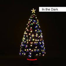HomCom 75 Pre Lit Rotating Tree With Multicolor LED Lights 4