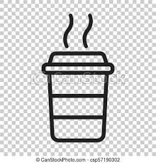 Coffee Cup Icon Vector Illustration On Isolated Transparent Background Business Concept Mug Pictogram