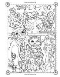 Marjorie Sarnats Pampered Pets New York Times Bestselling Artists Adult Cute Coloring