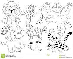 Vector Safari Animals stock vector Illustration of cute