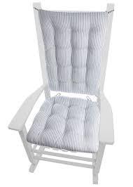 100 Navy Blue Rocking Chair Ticking Stripe Cushions Latex Foam