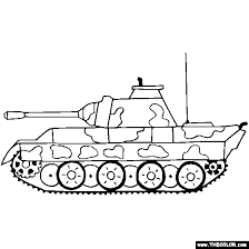 Tank Coloring Pages Free War Military 6