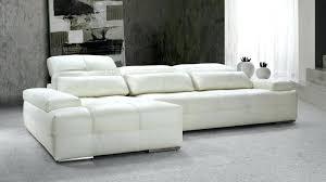 canape d angle cuir blanc canapac dangle moderne noir et