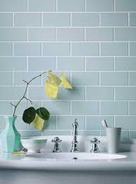 pale duck egg blue brick tiles with crisp white and light timber