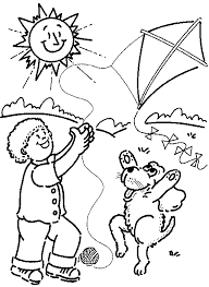 Japanese Kite Coloring Page Pages