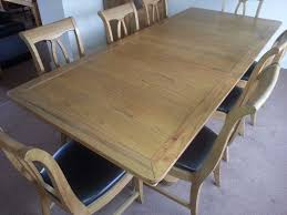 Solid Oak Dining Table 8 Chairs And Display Unit