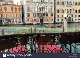 canap casa window view from palazzo ca duca to the grand canal casa stock