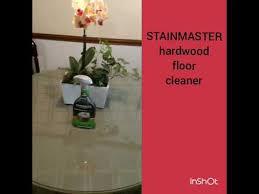 Stainmaster Vinyl Flooring Maintenance by Stainmaster Hardwood Floor Youtube