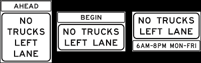 Sign Guidelines And Applications Manual: Restricted Truck Lanes This Sign Says Both Dead End And No Thru Trucks Mildlyteresting Fork Lift Sign First Safety Signs Vintage No Trucks Main Clipart Road Signs No Heavy Trucks Day Ross Tagg Design Allowed In Neighborhood Rules Regulations Photo For Allowed Meashots Entry For Heavy Vehicles Prohibitory By Salagraphics Belgian Regulatory Road Stock Illustration Getty Images