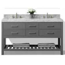 60 Inch Double Sink Vanity Without Top by Shop Ancerre Designs Elizabeth Sapphire Gray Undermount Double