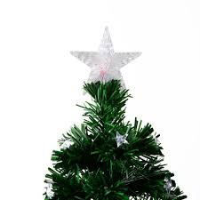 Rotating Pre Lit Multicolor Star LED Christmas Tree With Stand Prev
