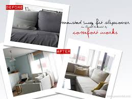 Hagalund Sofa Bed Cover Ikea by How To Fit Your Manstad Snug Fit Slipcover Video Comfort Works