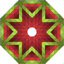 The Lone Star Christmas Tree Skirt Measures About 40 Inches Square In Shape Of An Octagon Fabric Information For Additional Sizes Can Be Found At