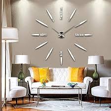 diy 3d große wanduhr modelle dekoration spiegel aufkleber