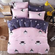 Love Cat Cartoon Bedding Sets Pink forter Set Duvet Cover Bed