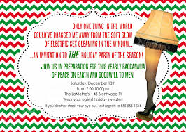 Diy Christmas Story Leg Lamp Sweater by A Christmas Story Leg Lamp Printable Holiday Party Invitation
