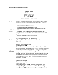 Resume Profile Examples Executive Assistant Best Career Administrative Skills And Qualifications