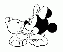 Baby Minnie Mouse Coloring Pages Ba Children Free Online