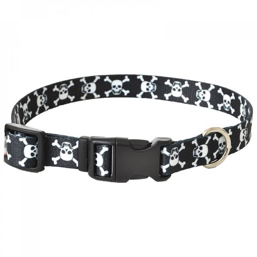"Coastal Pet Adjustable Dog Collar - Skulls & Bones, 3/4"" x 14""-20"""