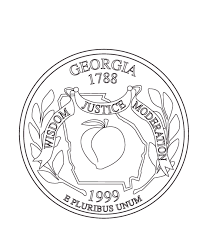 Georgia State Quarter Coloring Page