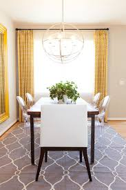 Dinning RoomsSmall Dining Room With Grey Modern Morrocan Rug And Wood Table Also