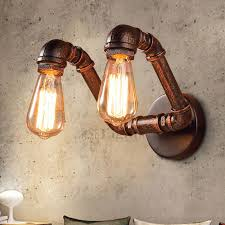 retro style industrial style wall lights for hallway