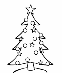 Pages Free Christmas Tree Coloring Pictures Printable For Kids