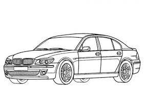 BMW M7 Car Coloring Pages Printable