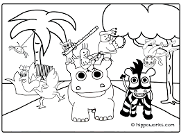 Jungle Animal Coloring Pages Free Archives Within Page