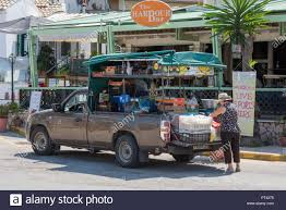 100 Buying A Truck Greek Local Lady Buying Fruits And Vegetables From A Mobile Shop On