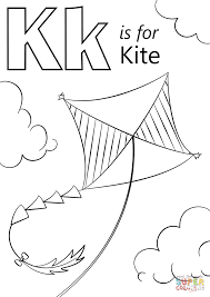 Click The K Is For Kite Coloring Pages To View Printable