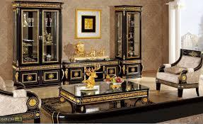 black and gold living room furniture the corner grey fur rug two