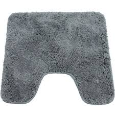 wc vorleger 45 x 50 cm mit ausschnitt rutschfester teppich anthrazit