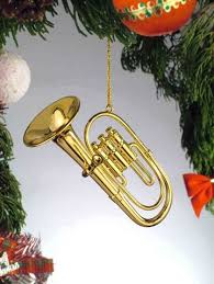 Gold Brass Tuba Miniature Music Musical Instrument Christmas Tree Ornament
