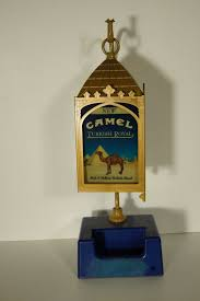 Daher Decorated Ware Tray 1971 by Vintage Camel Turkish Gold Counter Display Lamp Coin Tray