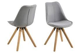 2 esszimmerstühle in grau beine aus eiche