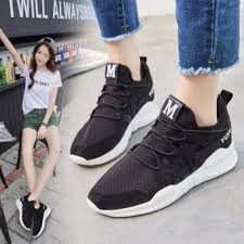 Ocean 2017 Ladies Fashion Sports Shoes Han Edition Leisure Heightenrunning ShoesBlack