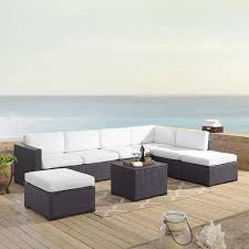 Biscayne 7 Person Outdoor Wicker Seating Set In White - Two Loveseats, One  Armless Chair, Coffee Table, Two Ottomans By Crosley Outdoor Wicker Chairs Table Cosco Malmo 4piece Brown Resin Patio Cversation Set With Blue Cushions Panama Pecan Alinum And 4 Pc Cushion Lounge Ding 59 X 33 In Slat Top Suncrown Fniture Glass 3piece Allweather Thick Durable Washable Covers Porch 3pc Chair End Details About Easy Care Two Natural Sorrento 5 Cast Woven Swivel Bar 48 Round Jeco Inc W00501rg Beachcroft 7 Piece By Signature Design Ashley At Becker World Love Seat And Coffee Belham Living Montauk Rocking