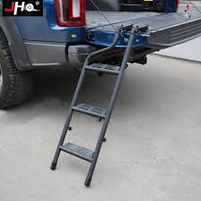 100 Truck Tailgate Steps JHO Bed Ladder For 20152018 Ford F150 Raptor 2016 2017 Foldable Pickup Step Cargo Accessories Parts