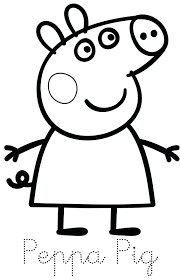 Peppa Pig Party Printouts Coloring Pages Youtube Family Print Trace Colour Ideas 3 Year Old