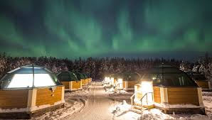 Discover northern lights at Arctic Glass Igloos of Arctic Snow
