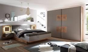 details zu schlafzimmer komplett set 4 tlg xl bett 180 kleiderschrank grau wildeiche