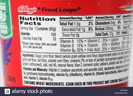 Nutrition Facts For Sugary Cereal