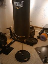 Diy Heavy Bag Ceiling Mount by Hanging A Punching Bag In A Power Rack Bodybuilding Com Forums