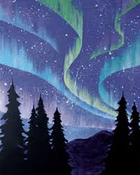 Social Artworking Northern Lights