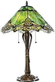Tiffany Style Lamps Vintage by Antique Tiffany Style Table Lamps Red Heart Pattern Style Shell