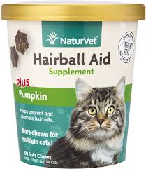 Dog Constipation Pumpkin by Naturvet Hairball Aid Supplement Plus Pumpkin Cat Soft Chews 100
