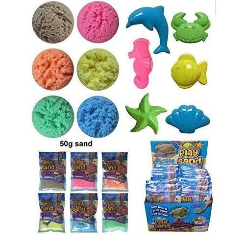 Play Sand with Plastic Mold Kit Squeezable That Never Dries Out Shaping Included